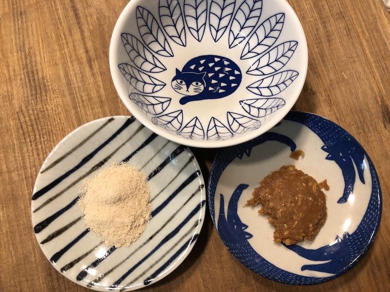 味噌田楽の材料