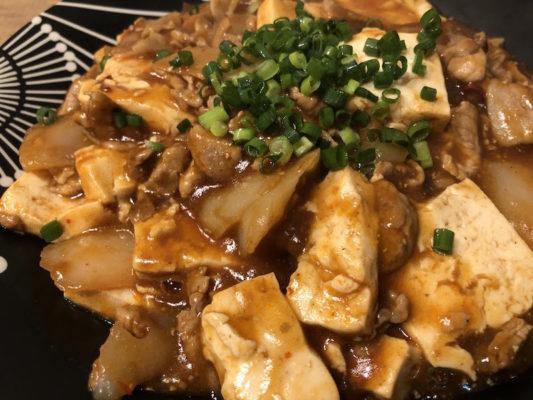 豚肉とこんにゃくの麻婆豆腐